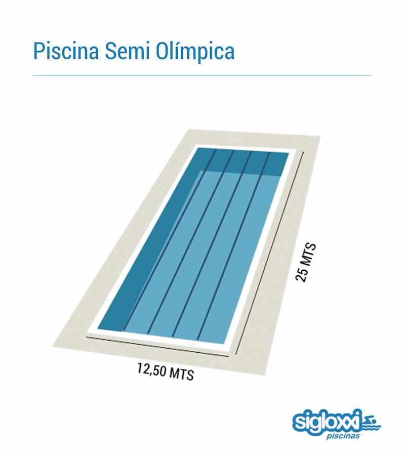 Piscinas siglo xxi for Medidas de una piscina para una casa